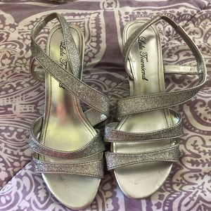 Silver sparkly sandals